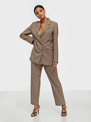 Selected Femme rutiga byxor Slfemilo Lea Mw Cropped Pant Check