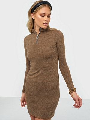 Parisian Zip Front Knitted Bodycon Dress