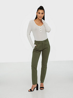 Selected Femme omönstrade byxor Slfmegan Mw Chino Noos W