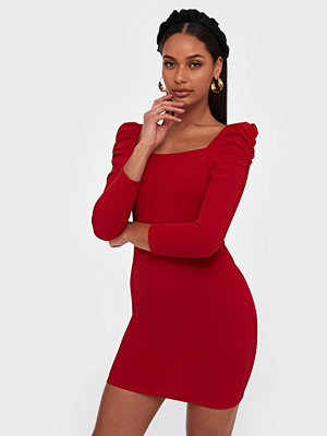 Parisian Puff Sleeve Bodycon Mini Dress