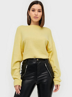 NLY Trend Sleeve Focus Knit Ljus Gul