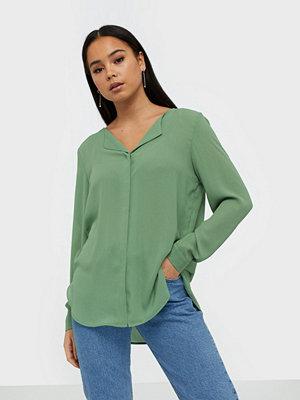 Vila Vilucy L/S Shirt - Noos Ljus Grön