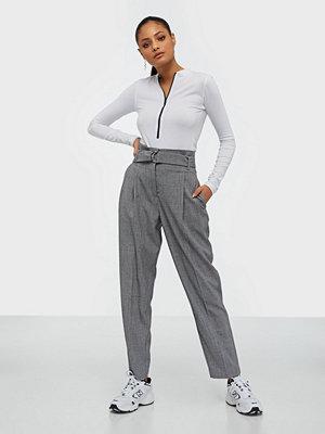 Y.a.s grå byxor Yasjennifer Hw Cropped Pant