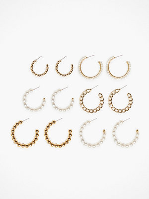 NLY Accessories örhängen Pearl Multi Hoops