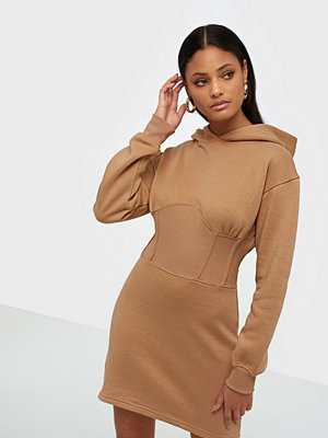 Missguided Corset Hooded Sweater Dress