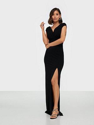 Ax Paris V Neck High Split Maxi Dress