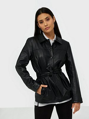 Skinnjackor - Selected Femme Slfnew Stella Leather Jacket B