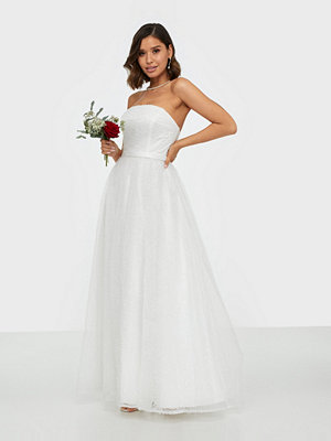 Maya Textured Bandeau Bridal Maxi Dress