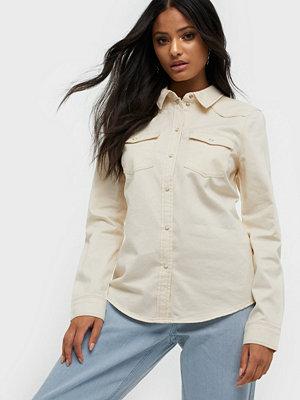 Vero Moda Vmmaria Ls Dnm Slim Shirt Clr Noos