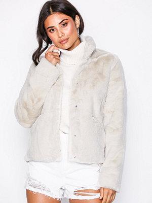Fuskpälsjackor - Only onlVIDA Faux Fur Jacket Otw Noos Ljus Grå