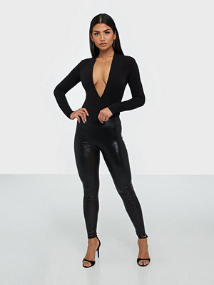 Parisian Wet Look Snake Print High Waist Leggings