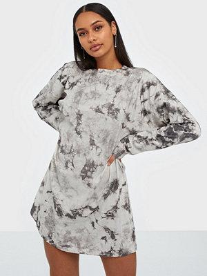 Missguided Tie Dye Long Sleeve T-shirt Dress