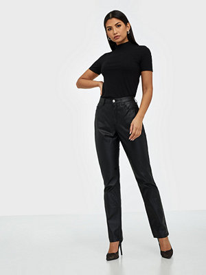 Missguided Highwaisted Coated Straight Jeans