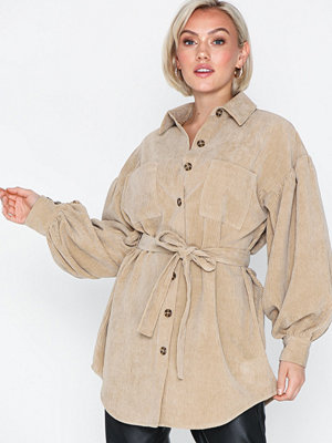 Skjortor - NLY Trend Belted Corduroy Shirt