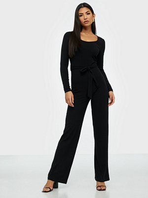 NLY Trend Ribbed Ls Jumpsuit