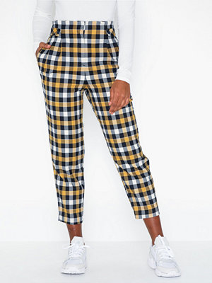 Topshop mönstrade byxor Twill Check Trousers