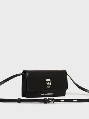 Karl Lagerfeld svart axelväska K/Ikonik Pin Woc