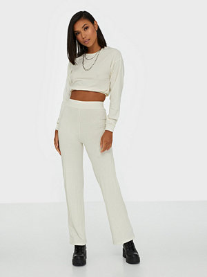 NLY Trend Puff Rib Set Offwhite
