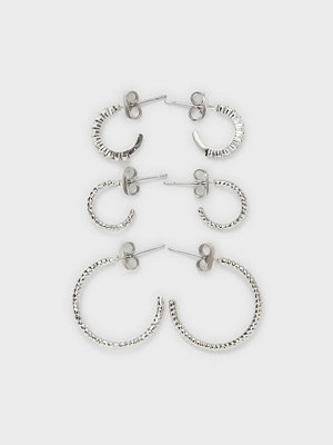 Pieces örhängen Pcdiona Hoop Earrings 3-Pack D2D