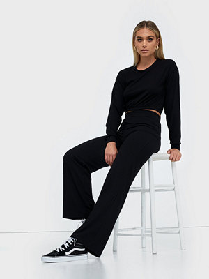 Jumpsuits & playsuits - NLY Trend Puff Rib Set Svart