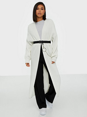 Cardigans - Missguided Extreme Rib Balloon Sleeve Maxi Cardigan