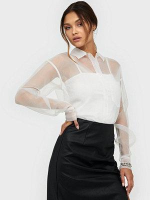Skjortor - NLY Trend Organza Shirt Vit