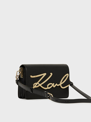 Karl Lagerfeld svart axelväska K/Signature Shoulderbag