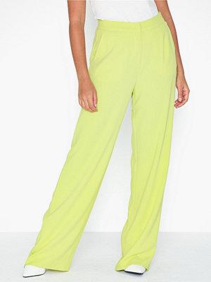NLY Trend limegröna byxor My Favourite Pants