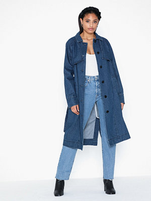 Vero Moda Vmmina Ls Denim Trench Coat