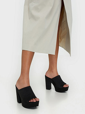 NLY Shoes Pedestal Mule Svart