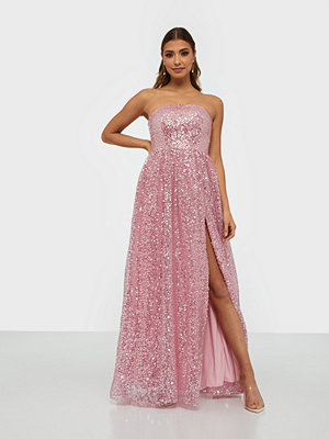 Dolly & Delicious Sequin Bandeau Maxi Dress