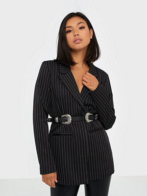 Missguided Pinstripe Oversized Blazer