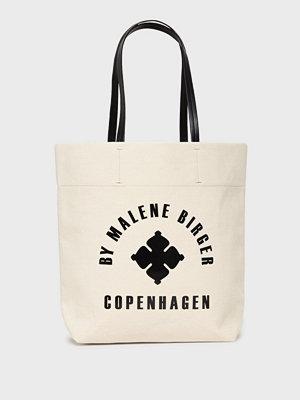 By Malene Birger vit axelväska med tryck Flora Tote
