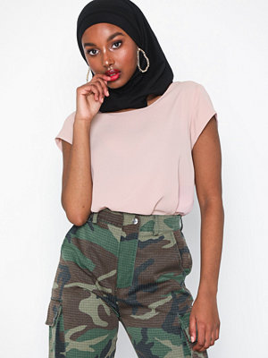 Only onlVIC S/S Solid Top Noos Wvn Pale