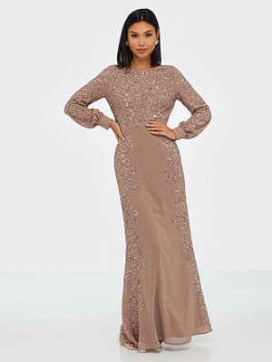 Maya Blossom Embellished Long Sleeve Maxi Dress