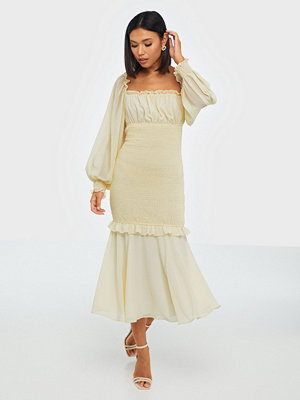 True Decadence Long Sleeve Smock Midi Dress