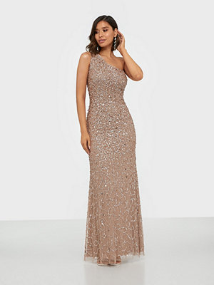 Maya All Over Sequin One Shoulder Maxi Dress