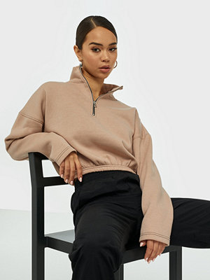 Missguided Zip Front High Neck Sweat