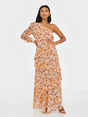 True Decadence One Sleeve Maxi Flower Dress