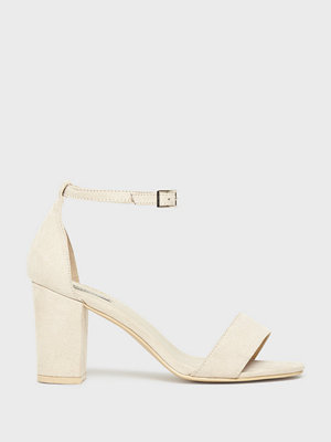 NLY Shoes Block Mid Heel Sandal Beige