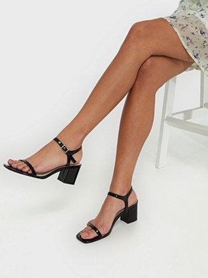 NLY Shoes Square Block Heel Sandal Svart