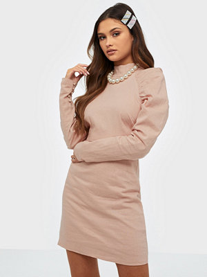 Glamorous Long Sleeve Linen Dress