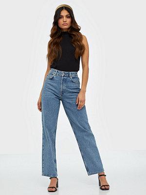 Selected Femme Slfkate Hw Straight Rail Blue Jeans
