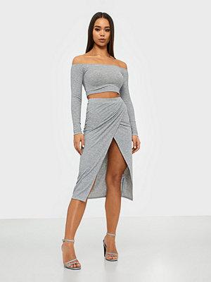 Festklänningar - NLY One Melange Rib Skirt Set