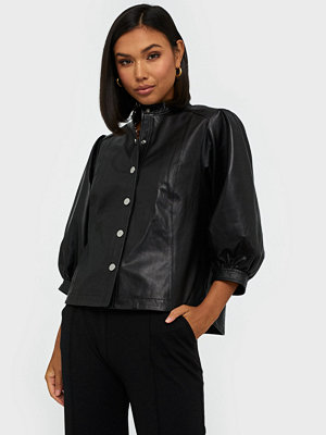 Skjortor - Selected Femme Slfmilla Leather Shirt B