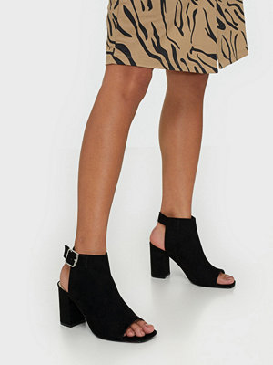 NLY Shoes Open Toe City Heel Svart