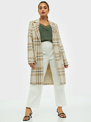 Only Onlannalina Check Wool Coat Otw