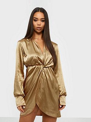 NLY One Satin Wrap Dress