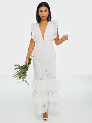 True Decadence V Neck Embroidered Maxi Dress