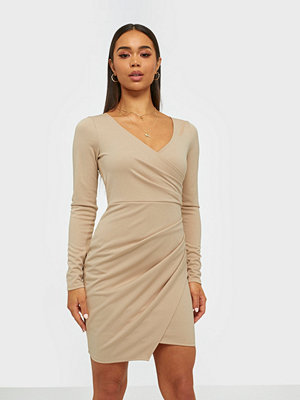 NLY One Long Sleeve Wrap Dress